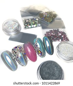 rhinestones for the decoration of nails
