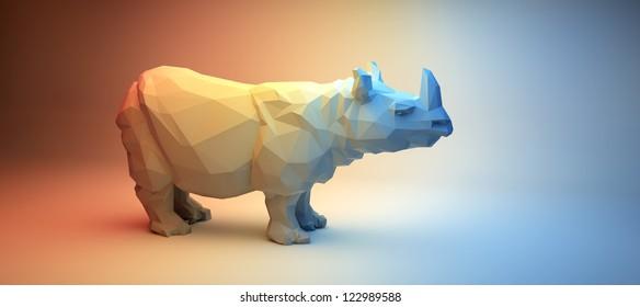 Rhino in Rainbow Studio