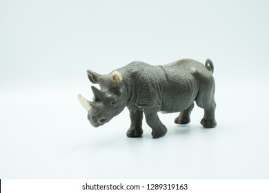 a rhinoceros made from plastic special for kids