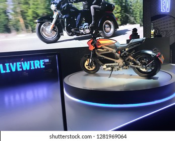 Rho, Milan / Italy 15-11-2018: Harley Davidson LiveWire debut at Eicma
