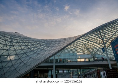 Rho Milano Italy 2 December 2018: Fiera Milano Rho entrance. Fiera Milano Rho is an important international trade fair and conference on visual communication and commerce