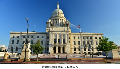 The Rhode Island State Capitol on Capitol Hill, Providence, RI, USA