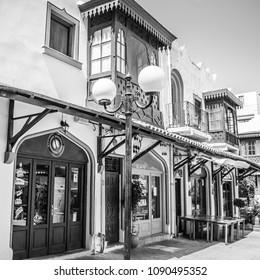 Rhodes, Greece - September 05, 2017: New Market in Rhodes. Greece
