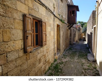 RHODES, GREECE shops on the streets of Rodes. Sunny weather pictures