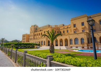 RHODES ISLAND, GREECE - MAY 2018: The famous Casino Rodos in Rhodes town. Rhodes island, Dodecanese islands, Greece, Europe