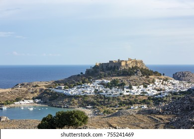 The rhodes island in Lindos