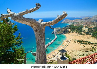 Rhodes island Tsabika beach Greece