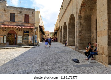 Rhodes, Squares / Greece - May 2017: Views of the streets of old Rhodes.