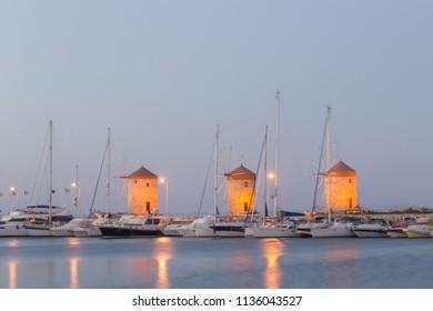 Rhodes Windmills - Wiatraki Rhodes, Greek