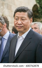 RHODES,DODECANESE/GREECE - JUNE 13: President of the People Republic of China Xi Jinping visits the Old Town, on June 13, 2014 in Rhodes, Greece.
