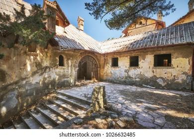 RHODES/GREECE - August 25, 2017: Villa De Vecchi known as Mussolini's House at Rhodes island, Greece