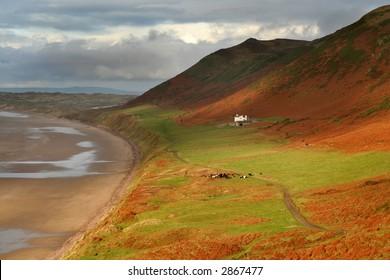 Rhosilli downs in the Gower peninsula , Wales, UK