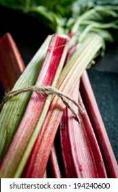 Rhubarb close up