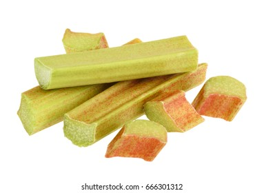 Rhubarb isolated without shadow