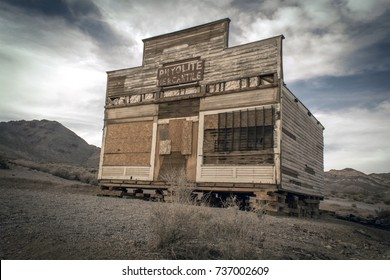 Rhyolite Mercantile in the abandoned ghost town of Rhyolite, Nevada