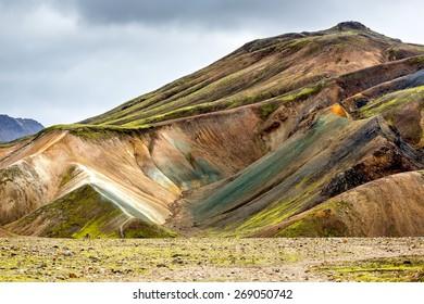 Rhyolite mountains in Landmannalaugar, Highlands, Iceland
