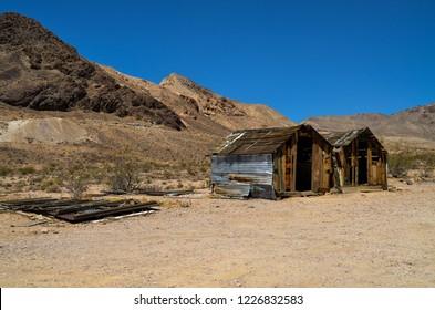 Rhyolite, Nevada - August 10, 2016: Rhyolite ghost town near Death Valley National Park