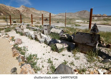 RHYOLITE, NEVADA, USA, APRIL 2019: Rhyolite - Abandoned town  - RHYOLITE, APRIL 27, 2019