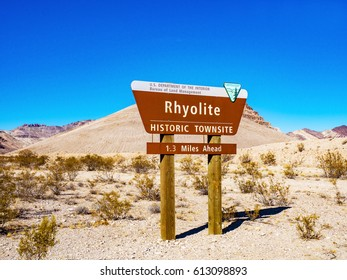 Rhyolite Sign, Nevada, USA