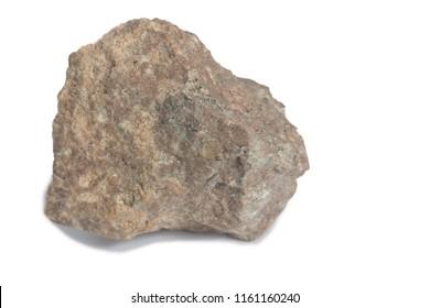 rhyolite stone isolate on white background