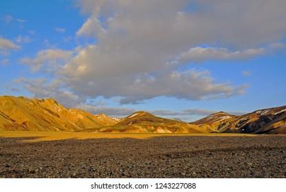 Rhyolite volcanic mountains of Landmannalaugar, Laugavegur, Fjallabak Nature Reserve, Iceland