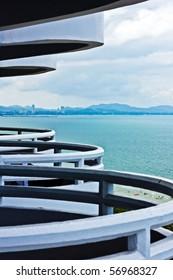 Rhythm of hotel's terrace in pattaya