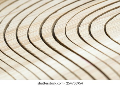 The rhythmic pattern. Parts of the cutted-off board create a rhythmic pattern.