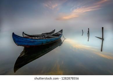 Ria de Aveiro fog Portugal