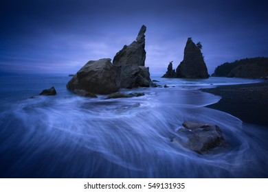 Rialto Beach twilight, Olympic National Park, Washington