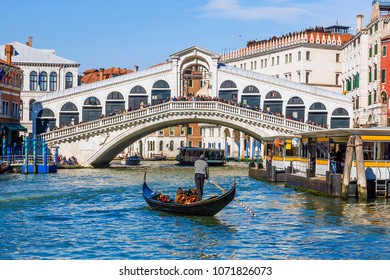 Rialto Bridge in Venice. Italy
