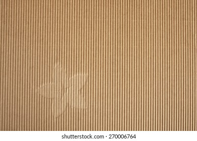 ribbed cardboard with flower