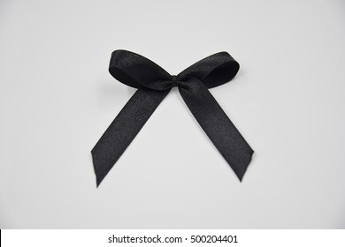 ribbin colour black with soft focus background