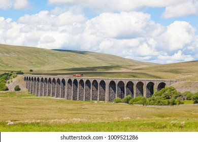 The Ribblehead Viaduct or Batty Moss Viaduct carries the Settle-Carlisle Railway across Batty Moss in the valley of the River Ribble at Ribblehead, in North Yorkshire, England