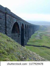 Ribblehead Viaduct (Batty Moss Viaduct) on the Settle Carlisle Railway. Located in North Yorkshire it carries the railway across the Ribble Valley, Yorkshire Dales