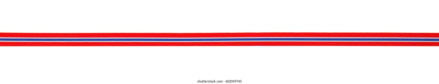 Ribbon in colors of Thailand flag isolated on white