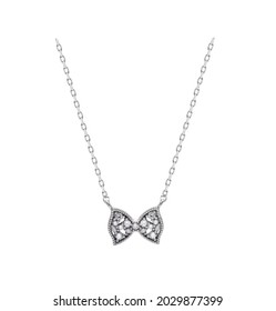 ribbon necklace with brilliant jeweled