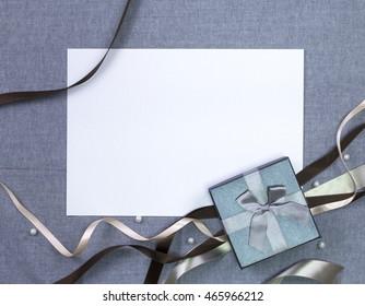 ribbon on grey background