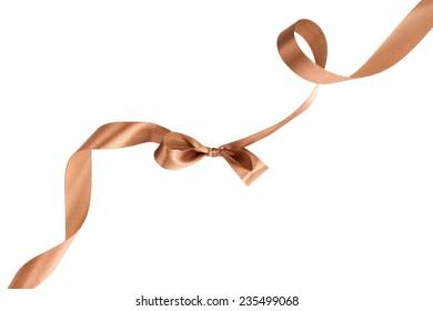 ribbon over white background, design element