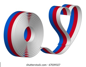 Ribbon - tricolor love