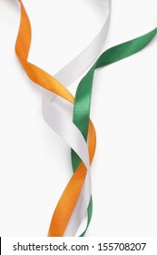 Ribbons representing Indian flag colors
