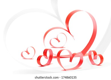 Clip Art Line Of Hearts : Abstract d paper hearts cutout love stock vector hd royalty free