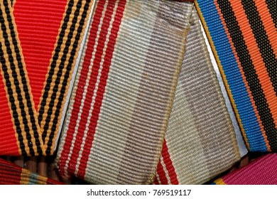Ribbons texture macro background