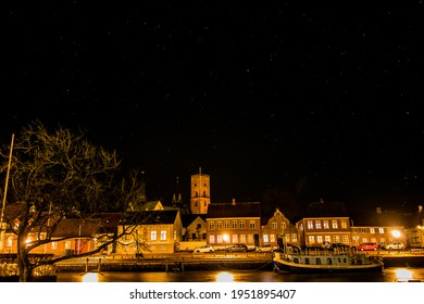 Ribe Old Town by night - Shutterstock ID 1951895407