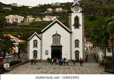 Ribeira Brava; Madeira; Portugal - february 23 2018 : the church