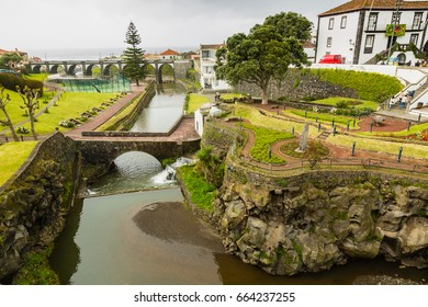 Ribeira Grande Town Gardens on Sao Miguel Island, archipelago of the Azores in the Atlantic Ocean belonging to Portugal