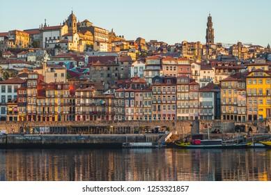 Ribeira Square at Porto by Douro River, Portugal