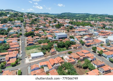 RIBEIRAO CLARO, PARANA, BRAZIL - NOVEMBER, 12, 2017: Aerial view of the city