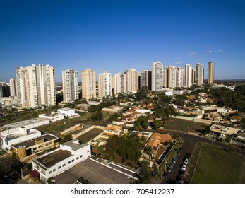 Ribeirao Preto city in Sao Paulo, Brazil. Region of João Fiusa Avenue. August, 2017.