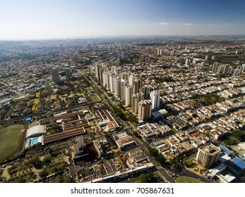 Ribeirao Preto city in Sao Paulo, Brazil. Region of Joao Fiusa Avenue.