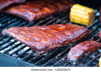 Ribs on the grill